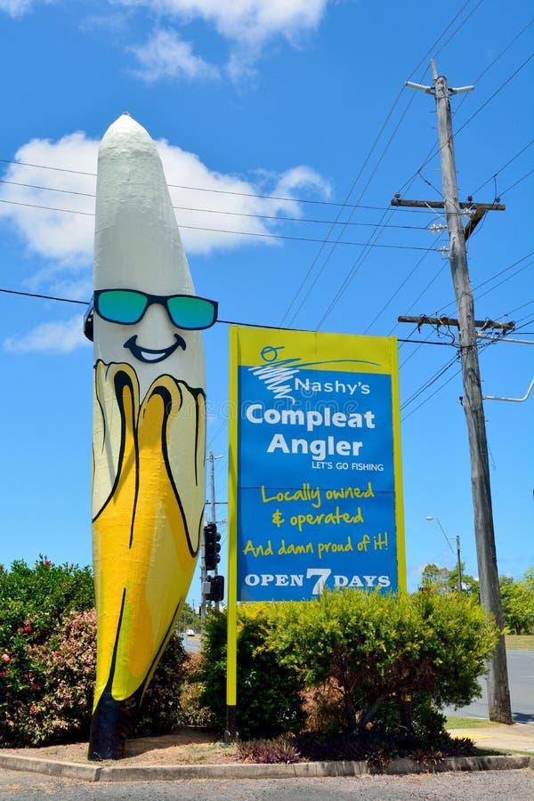Μεγάλο άγαλμα μπανανών στο Βορρά Mackay, Αυστραλία στοκ εικόνες