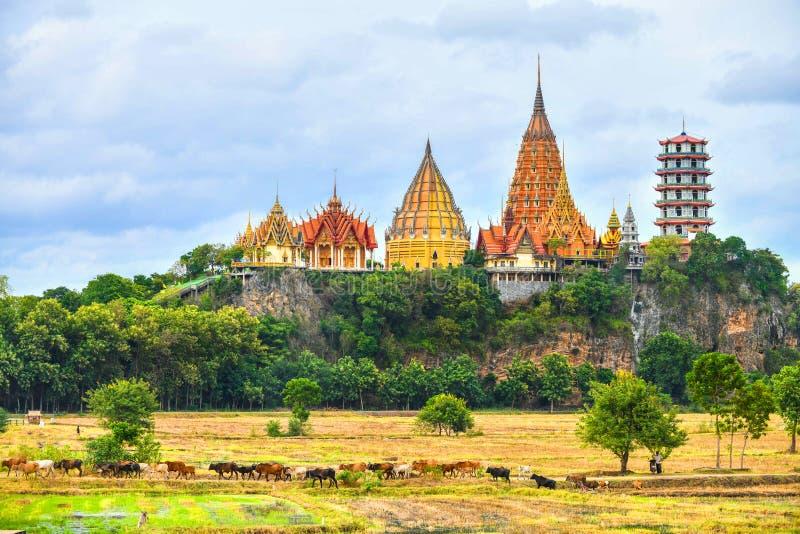 Μεγάλο άγαλμα του Βούδα στο ναό σπηλιών τιγρών, Ταϊλάνδη στοκ φωτογραφία με δικαίωμα ελεύθερης χρήσης