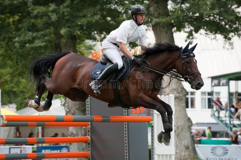 μεγάλο άλογο πηδώντας prix W csio &t στοκ εικόνα