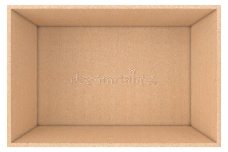 Μεγάλο ανοικτό κενό χάρτινο κουτί από χαρτόνι Απόδοση 3d διανυσματική απεικόνιση