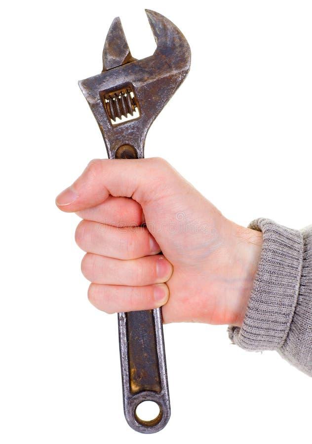 μεγάλο γαλλικό κλειδί ατόμων s χεριών στοκ εικόνα με δικαίωμα ελεύθερης χρήσης