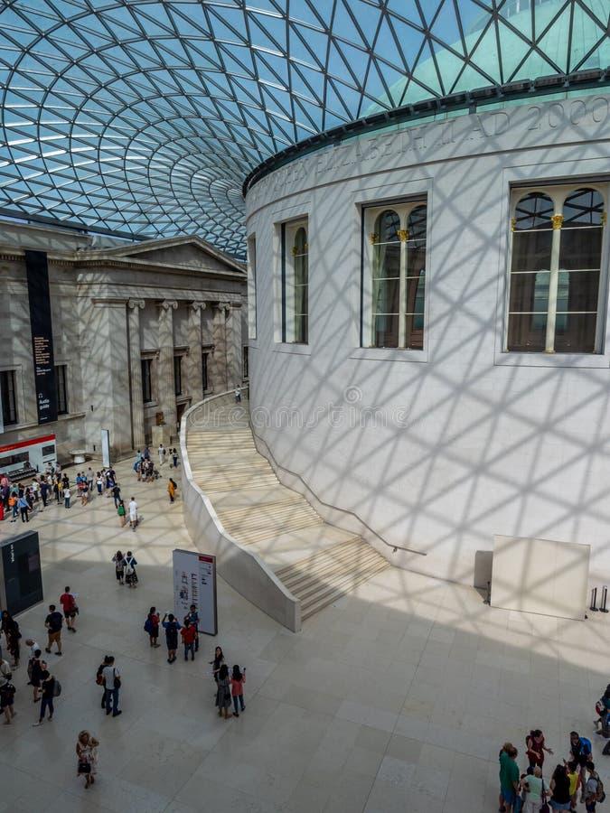 Μεγάλο δικαστήριο του βρετανικού μουσείου στο Λονδίνο στοκ φωτογραφίες με δικαίωμα ελεύθερης χρήσης