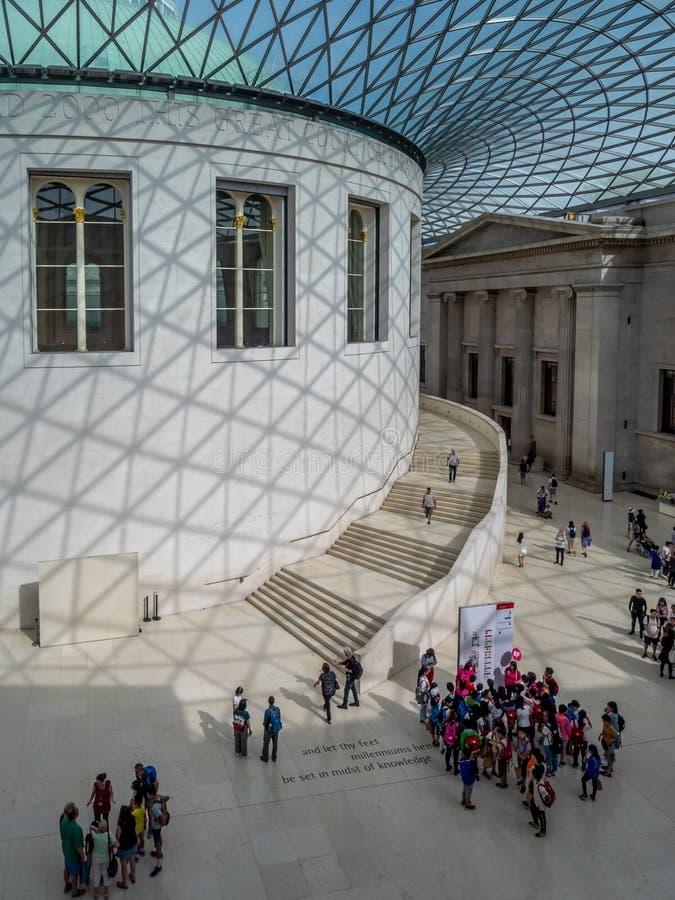 Μεγάλο δικαστήριο του βρετανικού μουσείου στο Λονδίνο στοκ φωτογραφία με δικαίωμα ελεύθερης χρήσης
