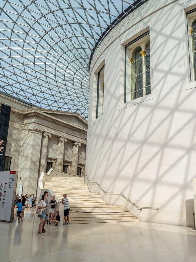 Μεγάλο δικαστήριο του βρετανικού μουσείου στο Λονδίνο στοκ εικόνες