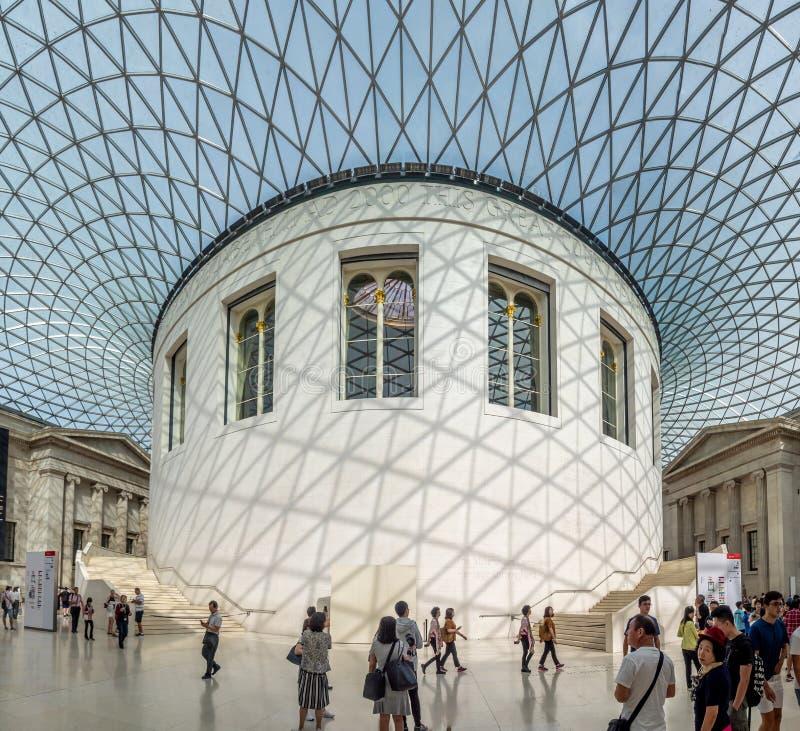 Μεγάλο δικαστήριο του βρετανικού μουσείου στο Λονδίνο στοκ φωτογραφίες