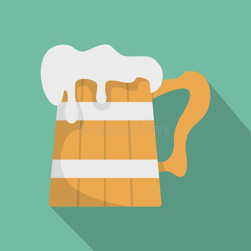Μεγάλο εικονίδιο κουπών μπύρας, επίπεδο ύφος ελεύθερη απεικόνιση δικαιώματος