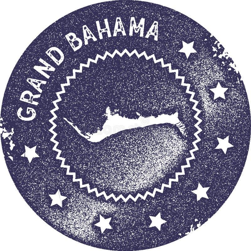 Μεγάλο εκλεκτής ποιότητας γραμματόσημο χαρτών Bahama διανυσματική απεικόνιση