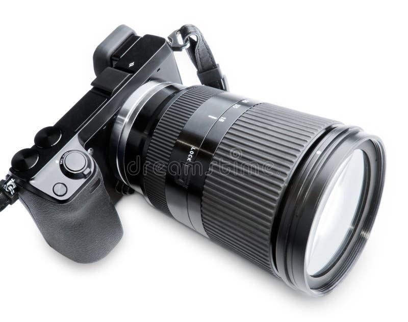 μεγάλο ζουμ φωτογραφικών μηχανών στοκ εικόνες με δικαίωμα ελεύθερης χρήσης