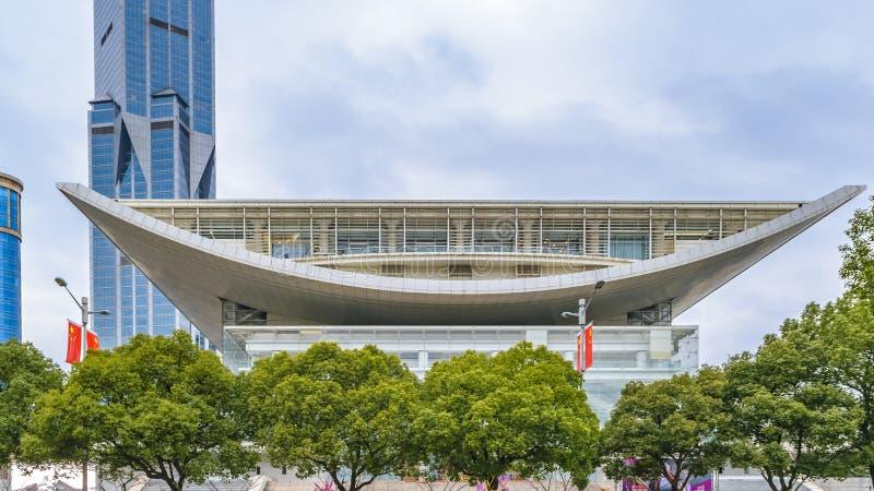 Μεγάλο θέατρο της Σαγγάης, Κίνα στοκ εικόνες