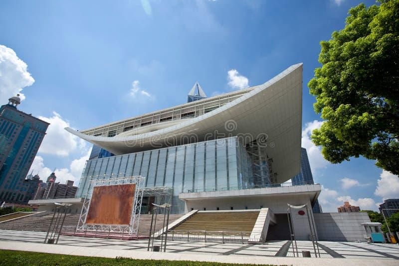μεγάλο θέατρο της Σαγγάη&si στοκ εικόνα