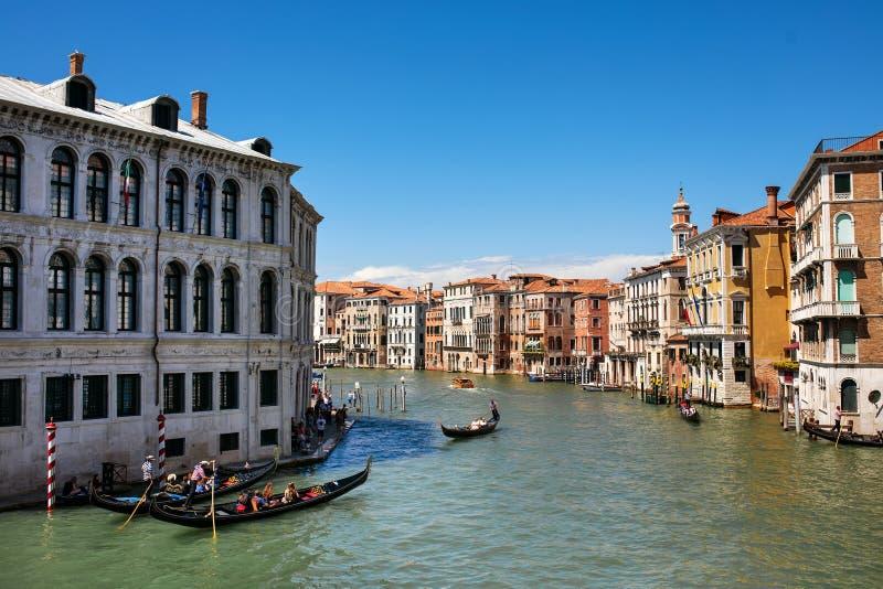Μεγάλο κανάλι Βενετία με τις γόνδολες στοκ φωτογραφίες με δικαίωμα ελεύθερης χρήσης