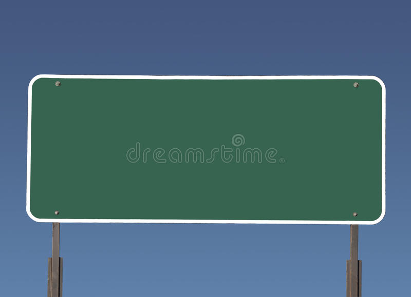 μεγάλο κενό πράσινο σημάδι & στοκ εικόνα με δικαίωμα ελεύθερης χρήσης