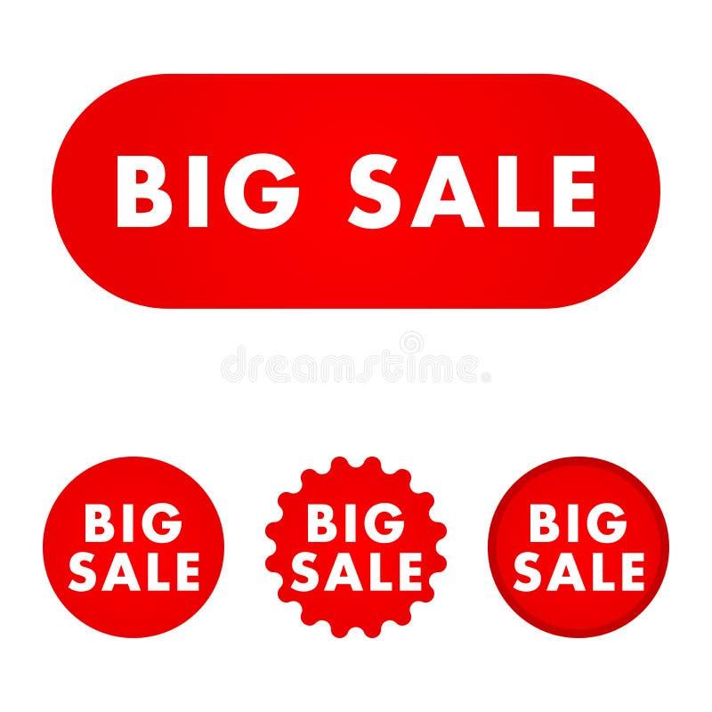 Μεγάλο κουμπί πώλησης διανυσματική απεικόνιση