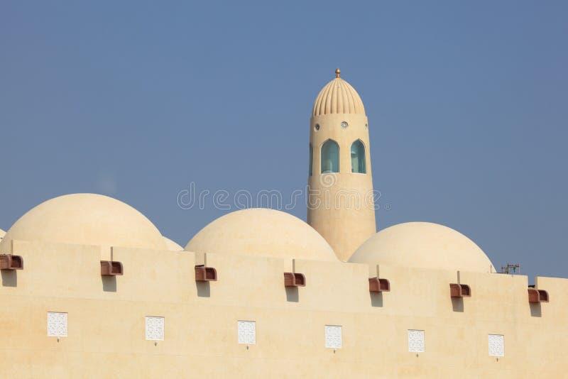 μεγάλο κράτος του Κατάρ μουσουλμανικών τεμενών doha στοκ εικόνες