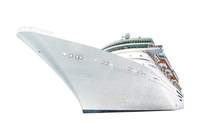 Μεγάλο κρουαζιερόπλοιο που απομονώνεται στο άσπρο υπόβαθρο στοκ φωτογραφία