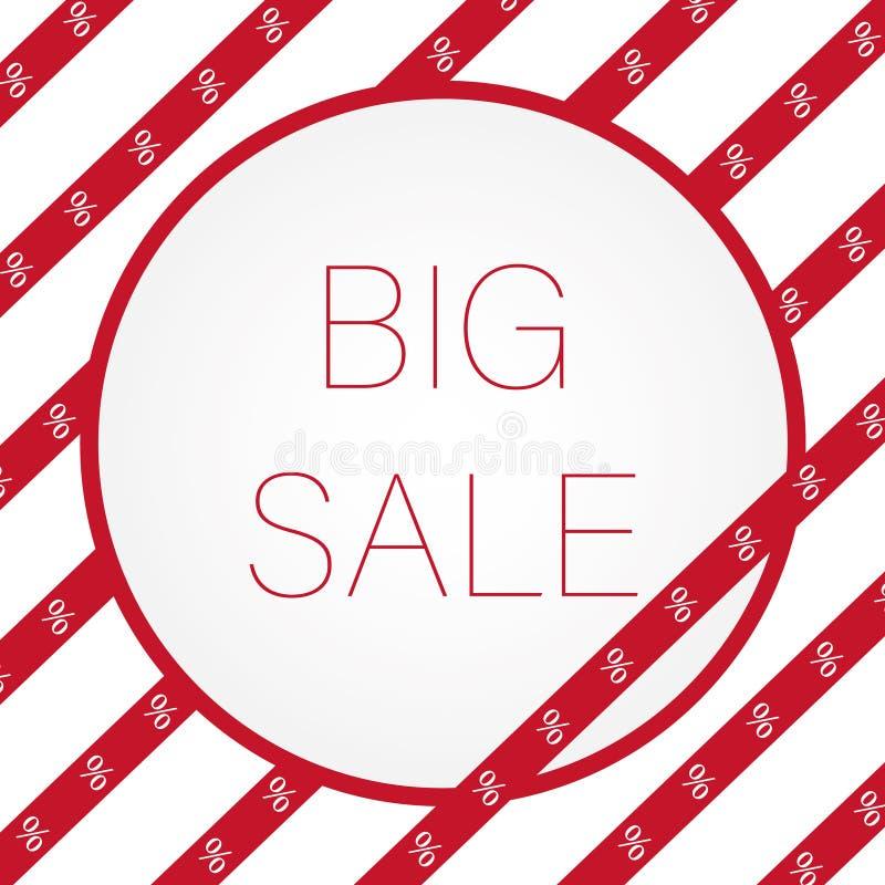 Μεγάλο κόκκινο σημάδι πώλησης για το ε-κατάστημα στοκ εικόνα με δικαίωμα ελεύθερης χρήσης