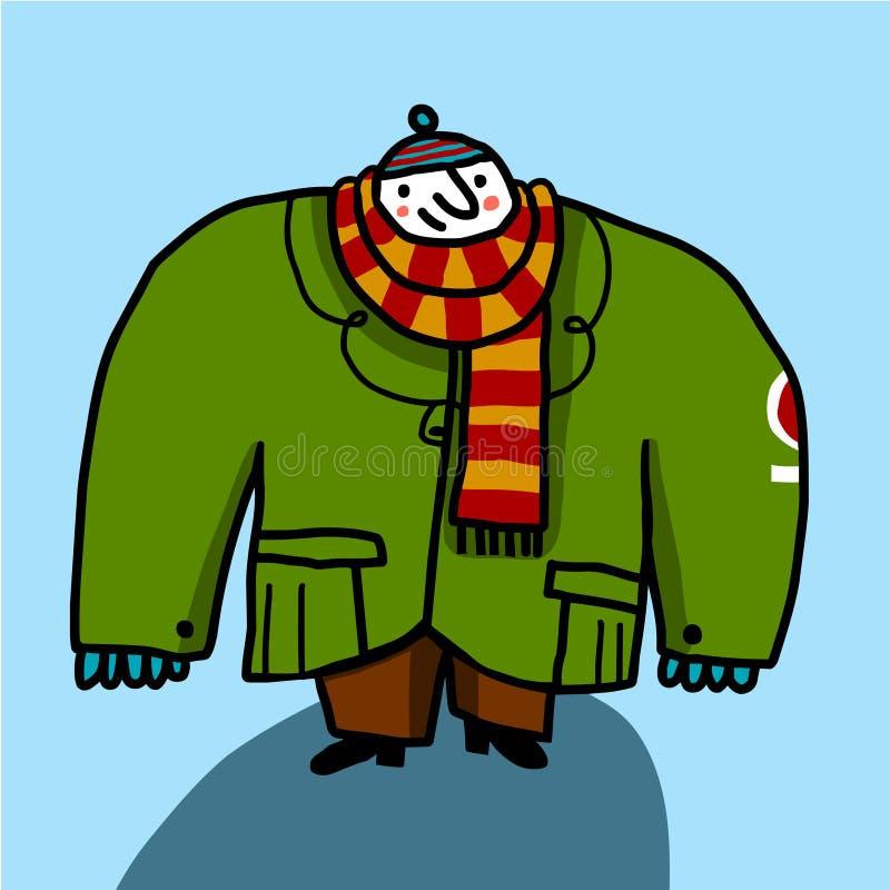 Download μεγάλο μαντίλι ατόμων παλτώ& Διανυσματική απεικόνιση - εικονογραφία από τσέπες, κρύο: 13183185