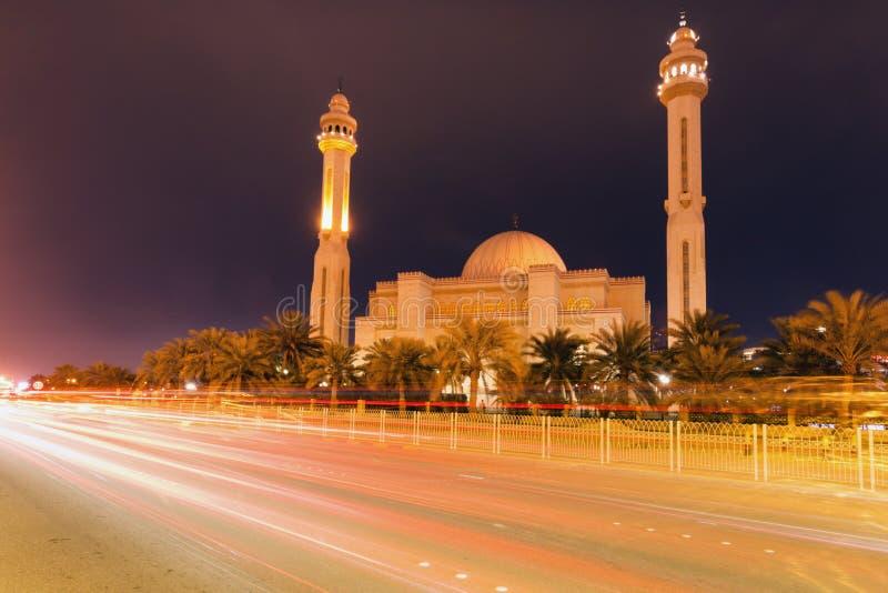 Μεγάλο μουσουλμανικό τέμενος Al Fateh σε Juffair στοκ εικόνες