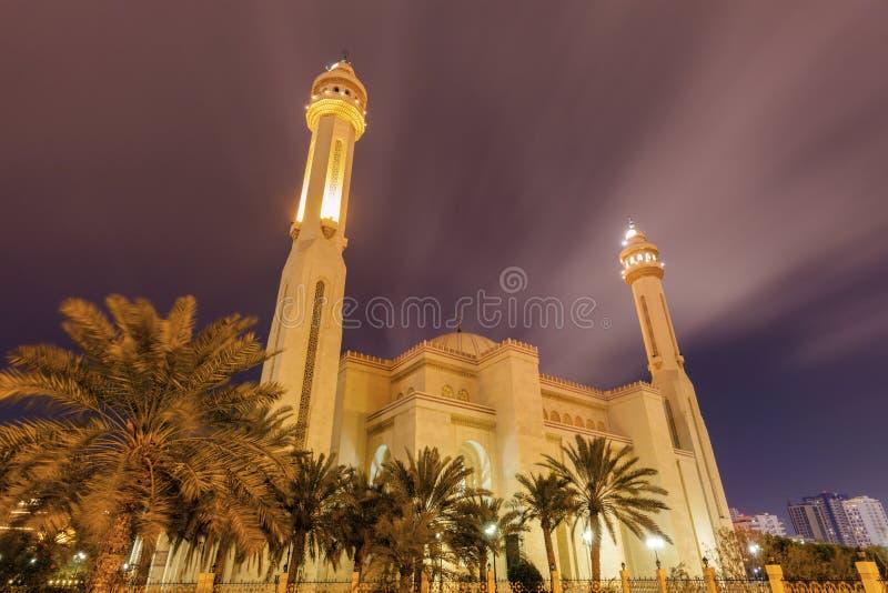 Μεγάλο μουσουλμανικό τέμενος Al Fateh σε Manama στοκ εικόνες