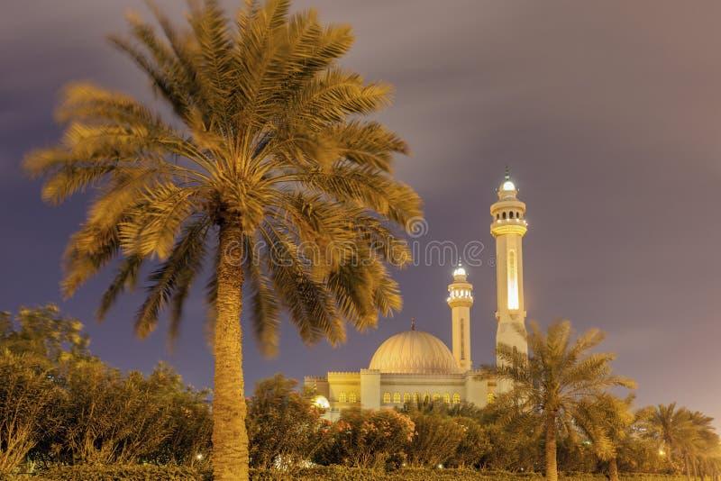 Μεγάλο μουσουλμανικό τέμενος Al Fateh σε Manama στοκ εικόνες με δικαίωμα ελεύθερης χρήσης