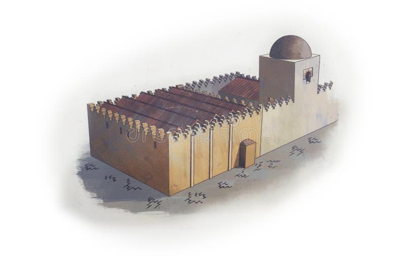 Μεγάλο μουσουλμανικό τέμενος Badajoz Υποθετική απεικόνιση disappeare σήμερα στοκ φωτογραφία