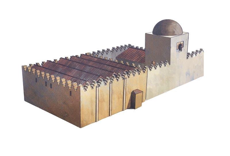Μεγάλο μουσουλμανικό τέμενος Badajoz Υποθετική απεικόνιση disappeare σήμερα στοκ εικόνες