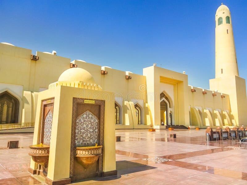 Μεγάλο μουσουλμανικό τέμενος Doha στοκ εικόνες