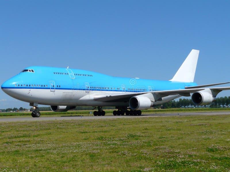 Μεγάλο μπλε αεροπλάνο στοκ φωτογραφία με δικαίωμα ελεύθερης χρήσης