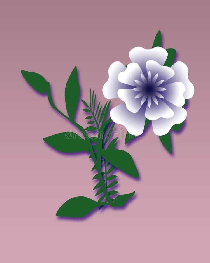 μεγάλο μπλε λουλούδι απεικόνιση αποθεμάτων