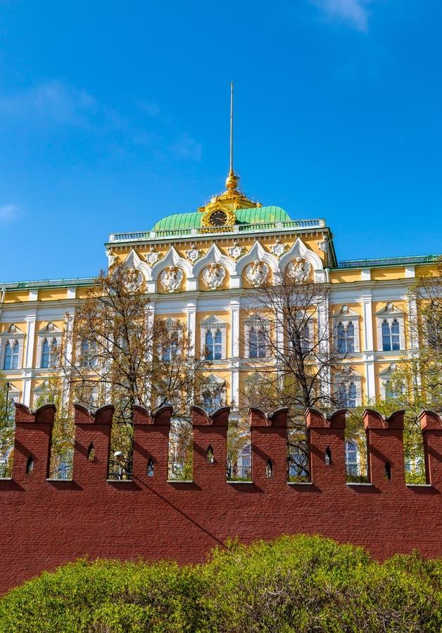 Μεγάλο παλάτι του Κρεμλίνου στη Μόσχα, Ρωσία στοκ εικόνα με δικαίωμα ελεύθερης χρήσης