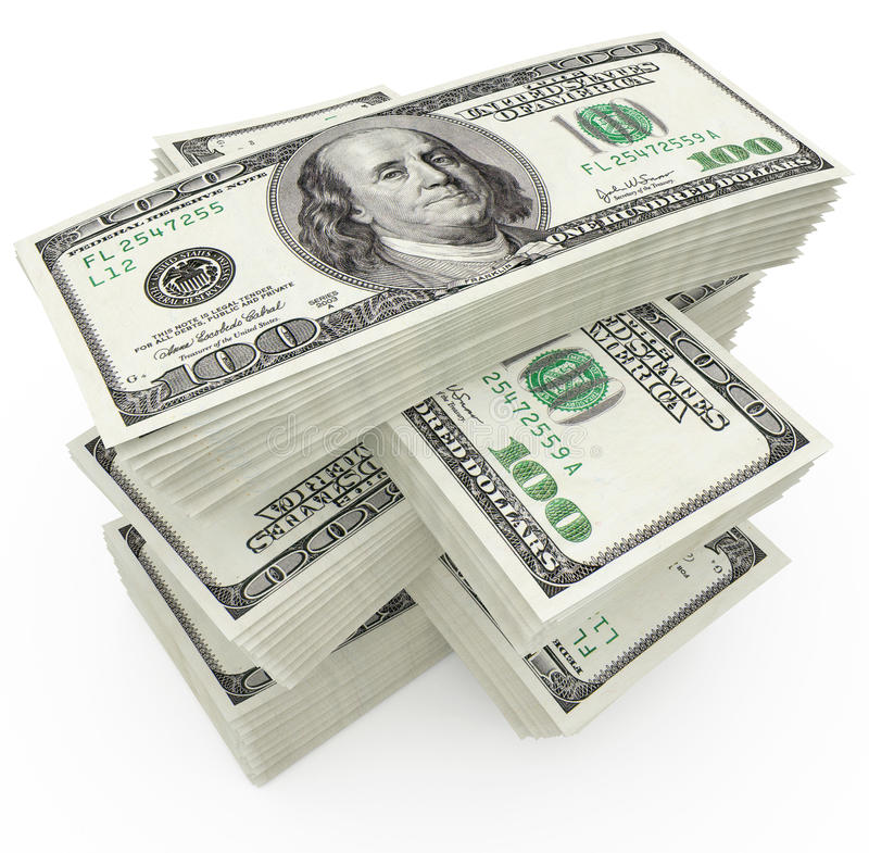 μεγάλο ποσό χρημάτων δολα& απεικόνιση αποθεμάτων