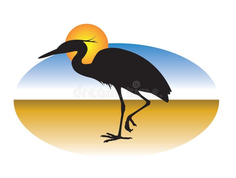 μεγάλο πουλί διανυσματική απεικόνιση
