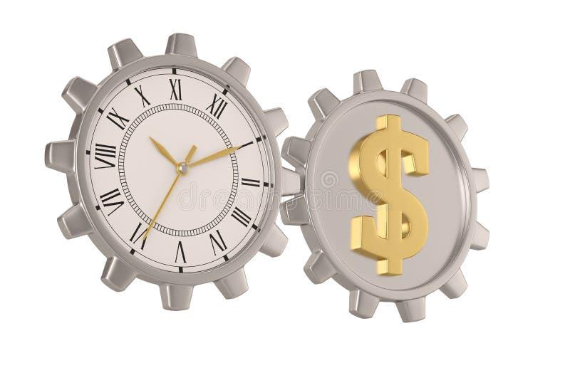 Μεγάλο ρολόι εργαλείων που απομονώνεται στο άσπρο υπόβαθρο r ελεύθερη απεικόνιση δικαιώματος
