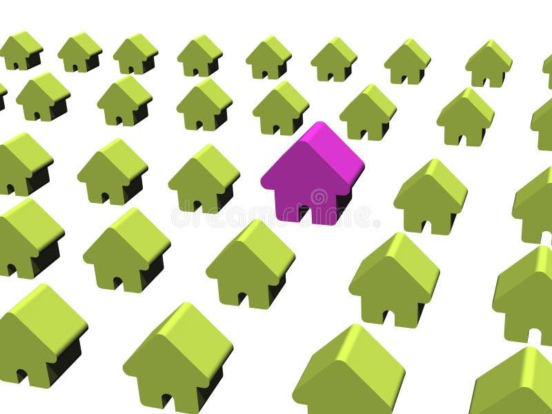 μεγάλο σπίτι πολύ διανυσματική απεικόνιση