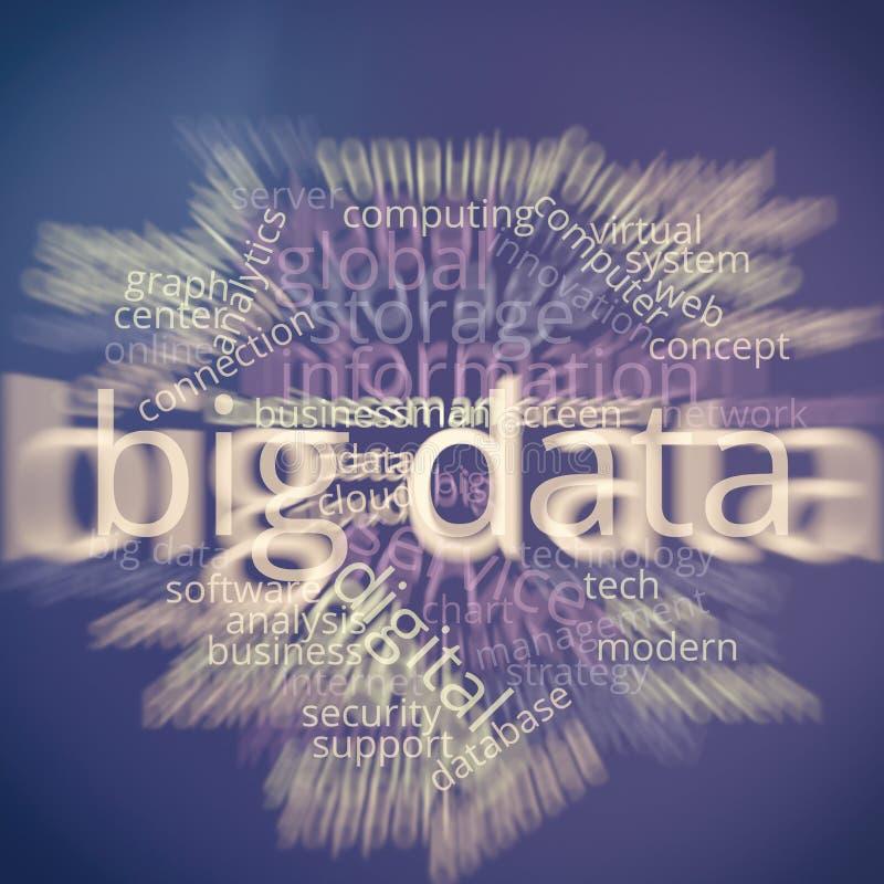 Μεγάλο σύννεφο Infographic του Word στοιχείων στοκ εικόνες με δικαίωμα ελεύθερης χρήσης