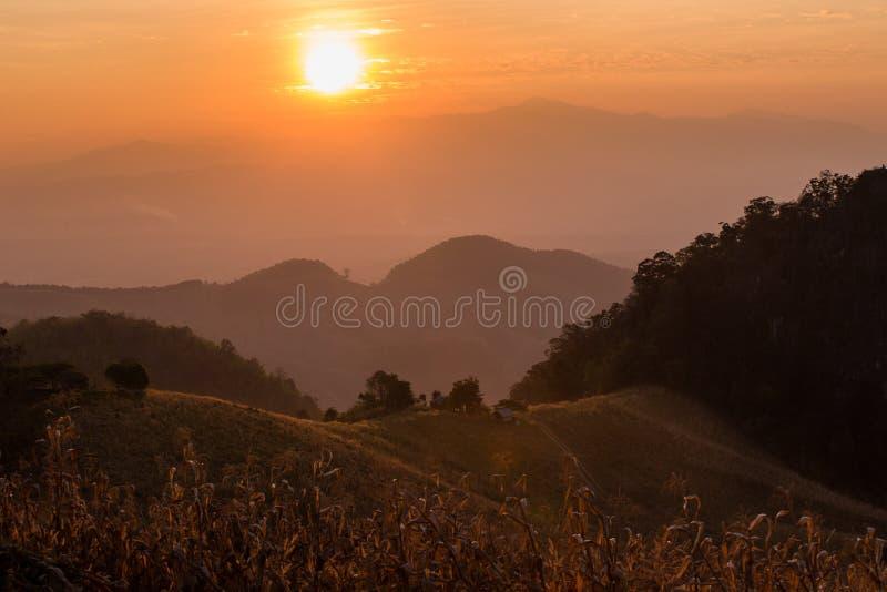 Μεγάλο τοπίο της γιαγιάς, ν βόρεια της Ταϊλάνδης στοκ φωτογραφία με δικαίωμα ελεύθερης χρήσης