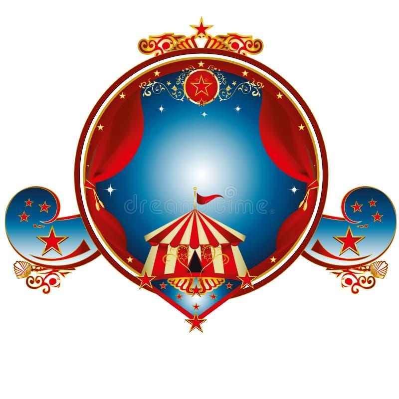 Μεγάλο τοπ τσίρκο γραμματοσήμων απεικόνιση αποθεμάτων