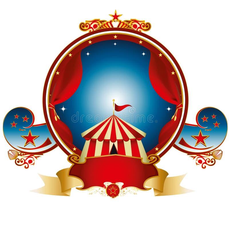 Μεγάλο τοπ τσίρκο γραμματοσήμων ελεύθερη απεικόνιση δικαιώματος