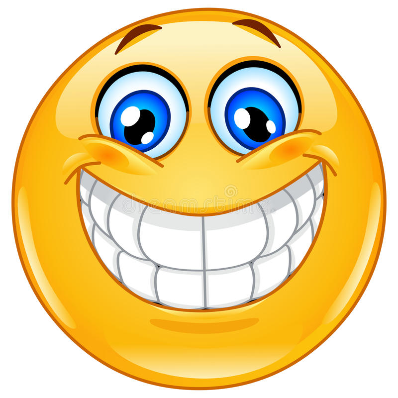 Μεγάλο χαμόγελο emoticon διανυσματική απεικόνιση