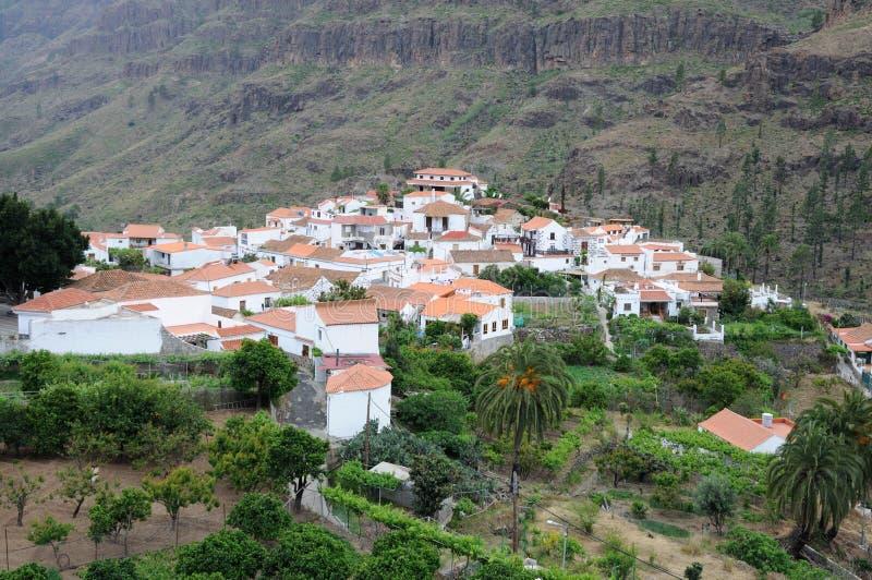 μεγάλο χωριό καναρινιών στοκ εικόνες