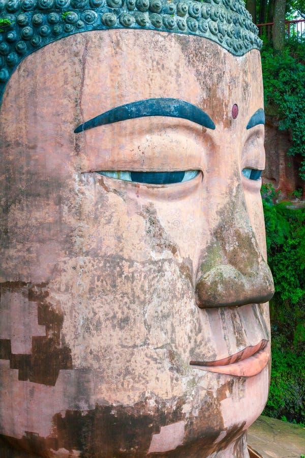 Μεγάλο leshan κεφάλι του Βούδα στοκ φωτογραφία με δικαίωμα ελεύθερης χρήσης