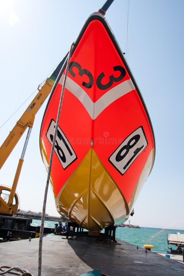 μεγάλο p1 powerboat prix yalta του 2010 στοκ εικόνα