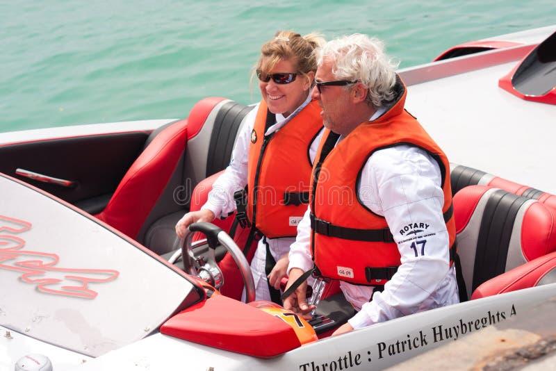 μεγάλο p1 powerboat prix yalta του 2010 στοκ εικόνες