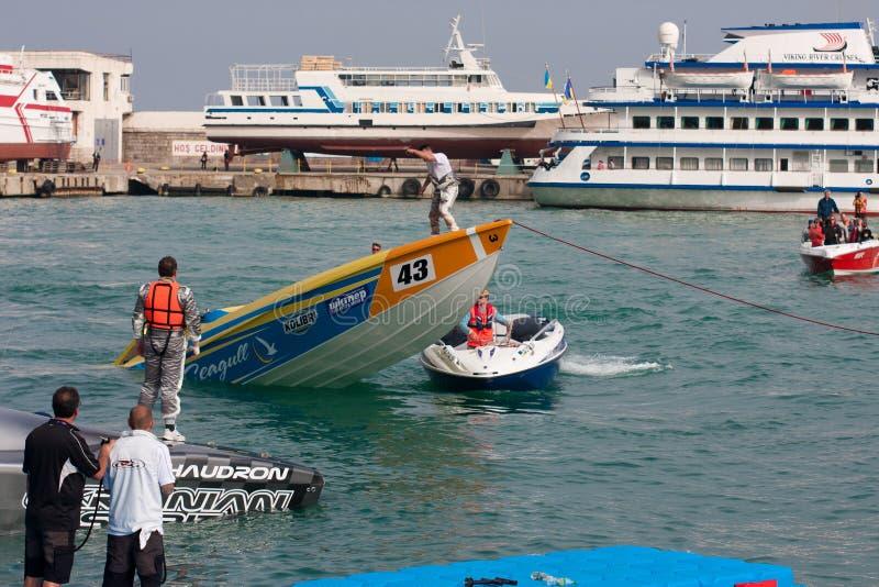 μεγάλο p1 powerboat prix yalta του 2010 στοκ φωτογραφία