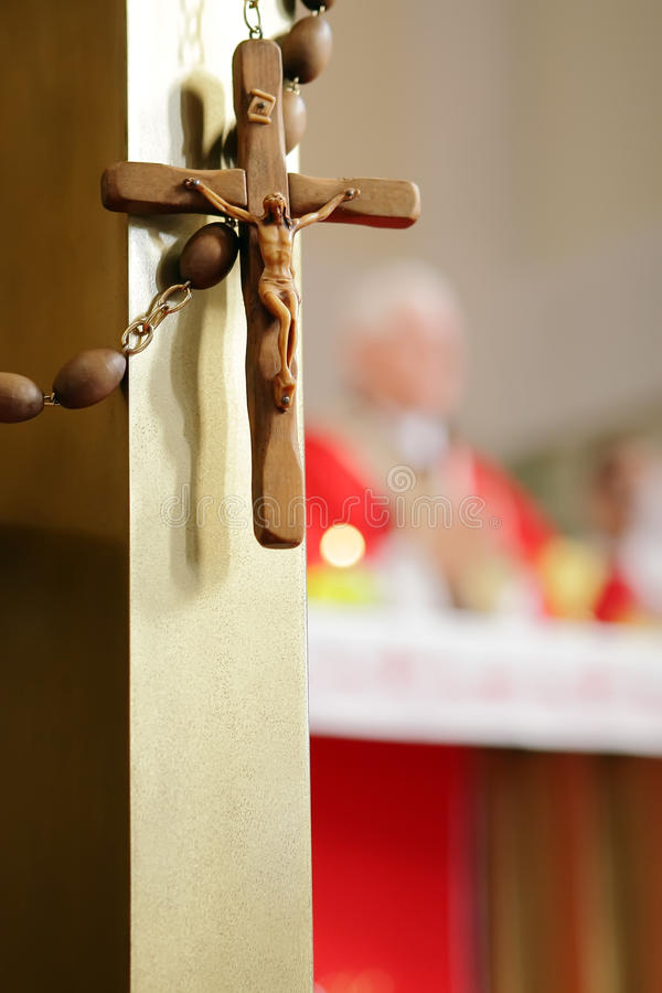 μεγάλο rosary ξύλινο στοκ εικόνες