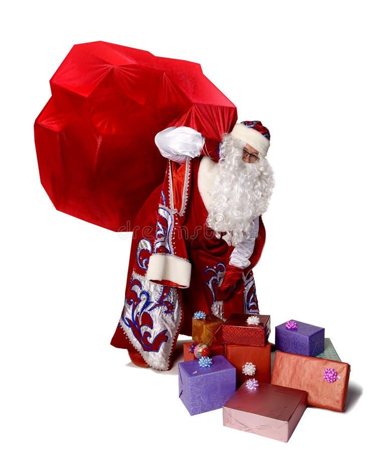 μεγάλο santa Claus τσαντών στοκ φωτογραφίες με δικαίωμα ελεύθερης χρήσης