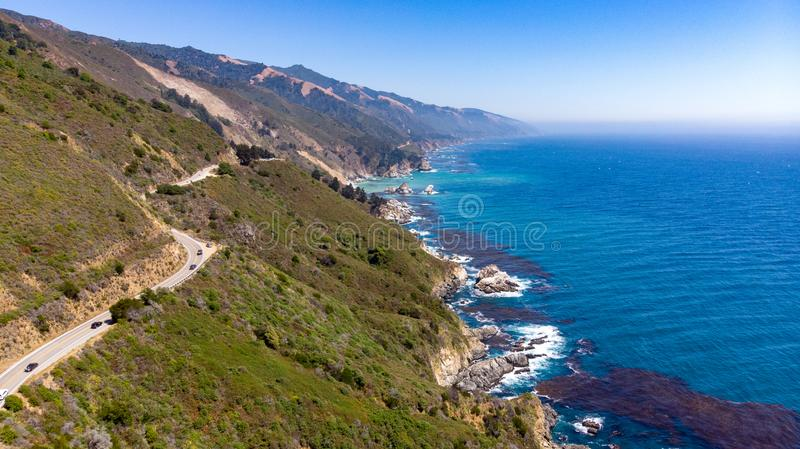 Μεγάλο Sur, Καλιφόρνια άνωθεν στοκ εικόνα με δικαίωμα ελεύθερης χρήσης