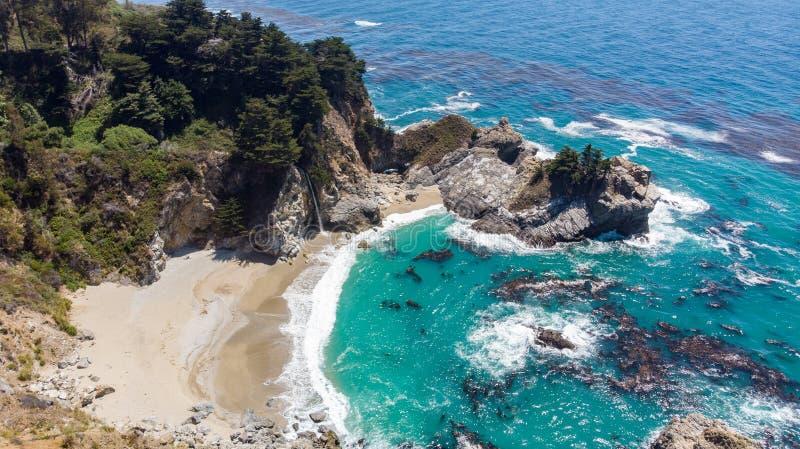 Μεγάλο Sur, Καλιφόρνια άνωθεν στοκ εικόνες με δικαίωμα ελεύθερης χρήσης
