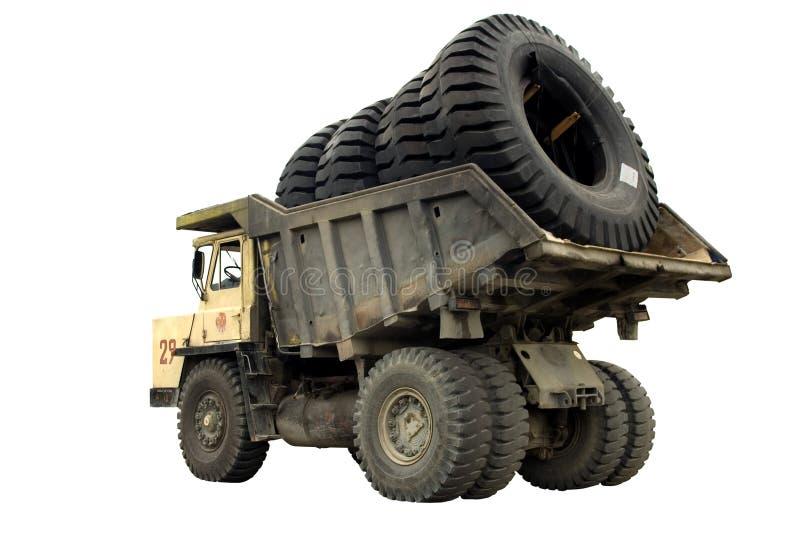 μεγάλο truck ροδών στοκ φωτογραφία με δικαίωμα ελεύθερης χρήσης