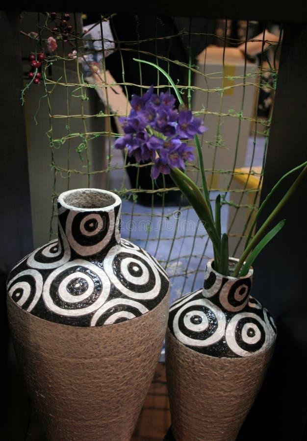 μεγάλο vase λουλουδιών στοκ εικόνες